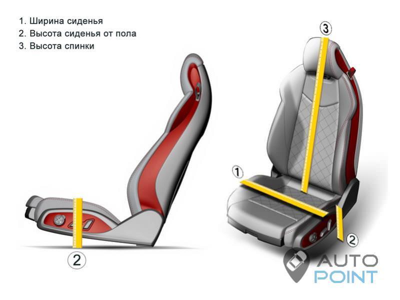 размеры сидений от иномарки