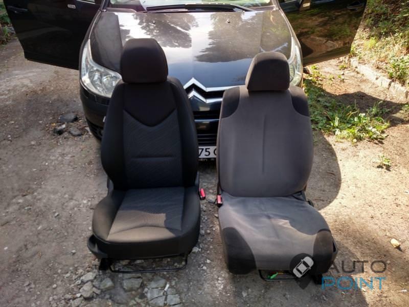 замена родных сидений Citroen C4 на сиденья от Peugeot 308